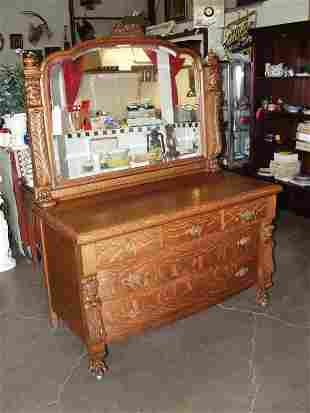 American Tiger Oak Dresser