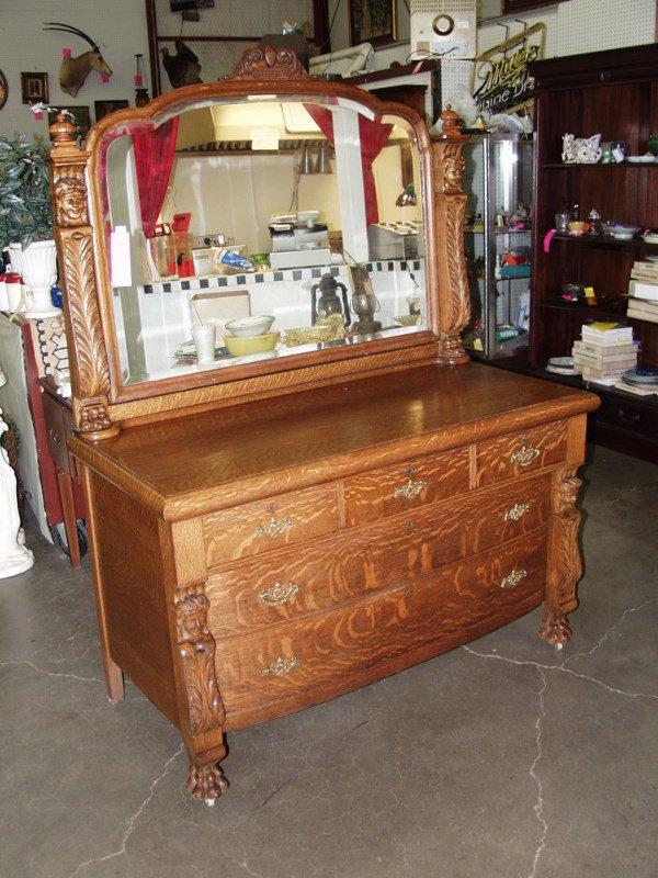 3: American Tiger Oak Dresser