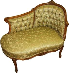 44: French Button & Tuck Chair