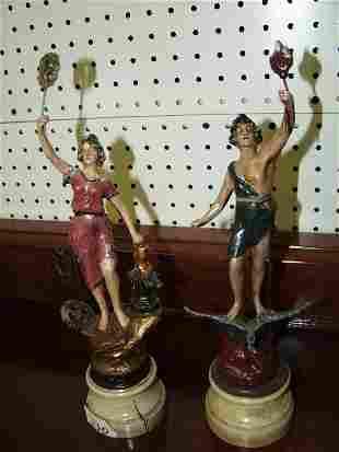 Pair Spleter Figurines