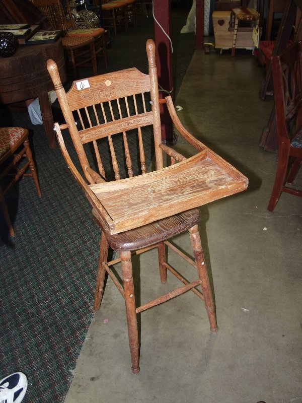 6: Pressed Back High Chair