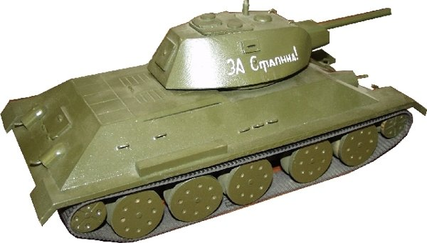 119: Carved Russian Wood Tank by Randy Oldom
