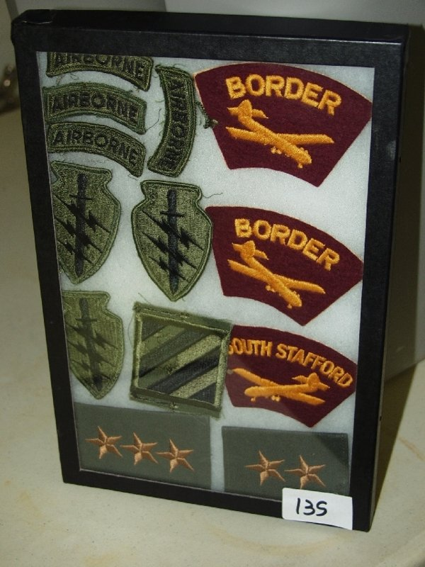 135: Display of Military Patches