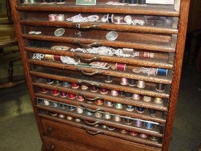 219: Tiger Oak Spool Cabinet - 2