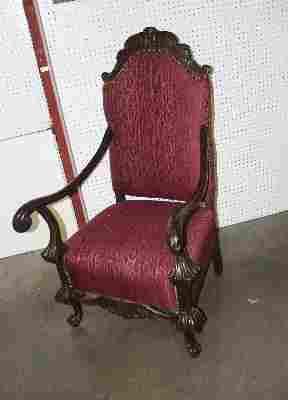 Walnut Throne Chair