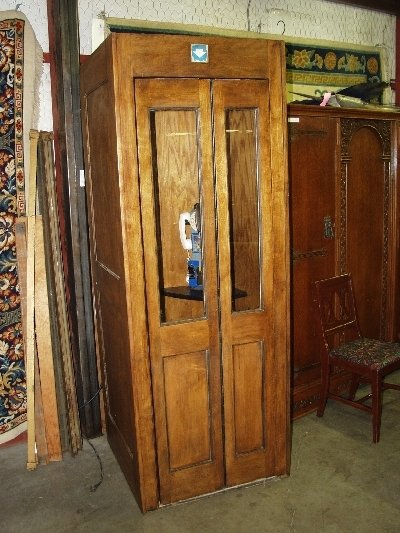 223: Vintage Wooden Telephone Booth