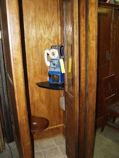 223: Vintage Wooden Telephone Booth - 2
