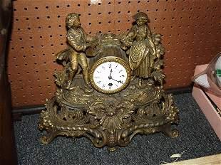 Spelter Figural Clock