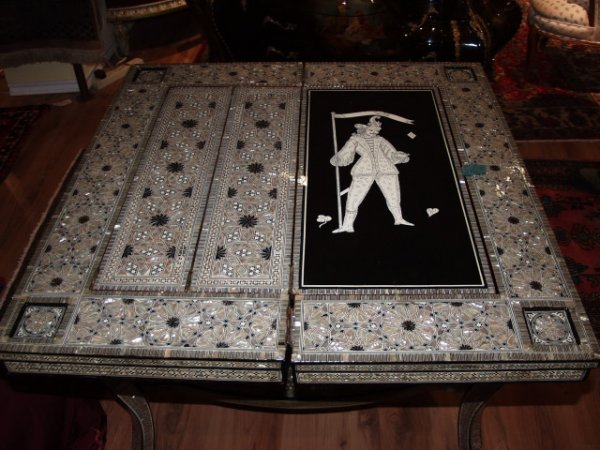 69: Mother of Pearl Inlaid Game Table - 2