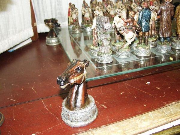 222: Cowboy & Indian Chess Set - 3