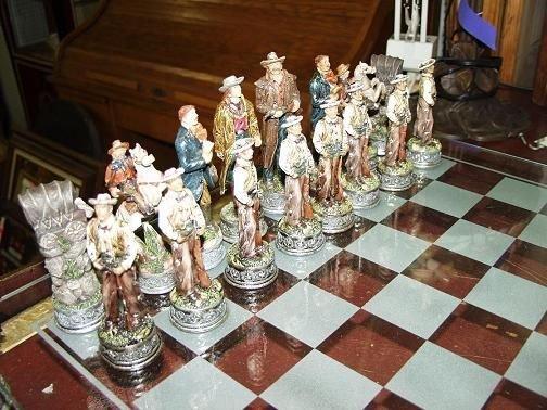 222: Cowboy & Indian Chess Set - 4
