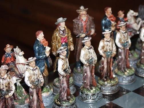 222: Cowboy & Indian Chess Set - 5