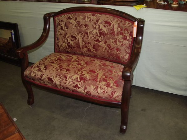 272: Mahogany Parlor Settee & Rocking Chair