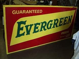 Evergreen Tin Advertising Sign