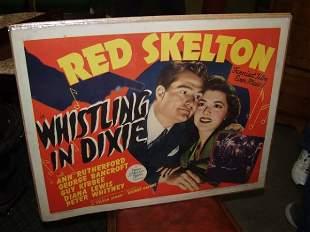 Red Skelton 1950's Movie Poster Half Sheet, Watch