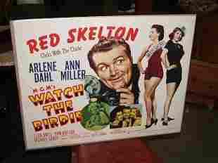 Red Skelton 1942 Movie Poster Half Sheet, Whistlin