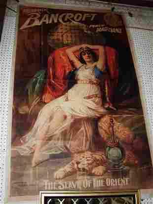"545P: Bancroft ""Prince of Magicians"" Canvas Poster ov"