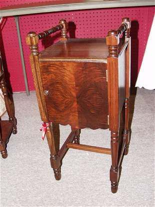 Antique Tiger Oak Smokers Stand