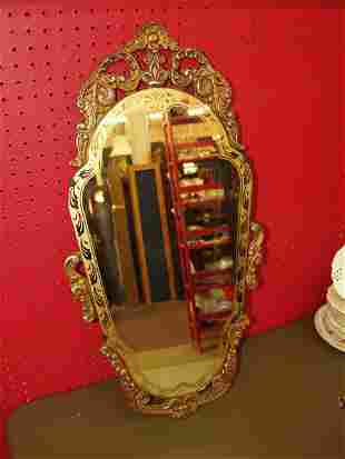 Antique Oval Wall Mirror With Beveled Mirror