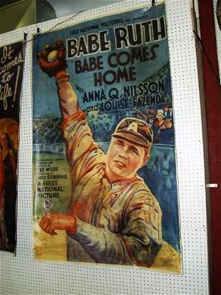 Babe Ruth Canvas Poster over 5' tall