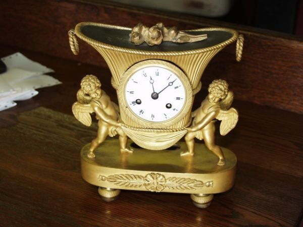 1215: French Mantle Clock 1880's