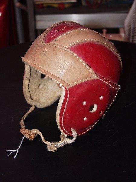 7: Vintage Leather Hutch Football Helmet