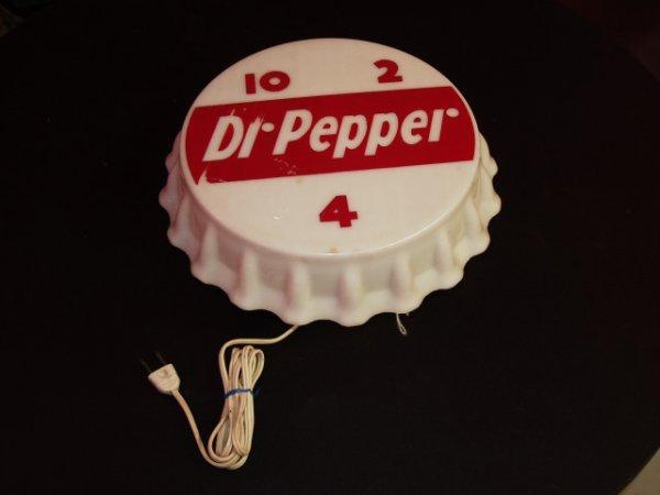 13: Vintage 1950's Light Up Dr Pepper Advertising Sign