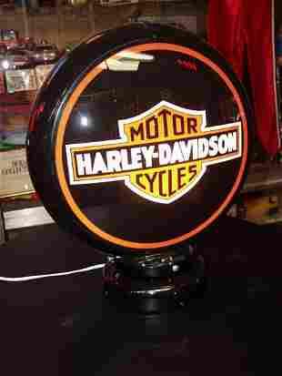 17: Harley Davisdson Light Up Globe with Stand