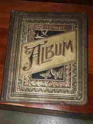 511: Antique Victorian Album with Trade Cards & ETC.