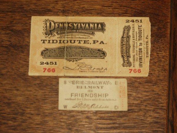 512: 1882 Pennsylvania Rail Road Ticket & Erie Railway