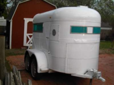 527: Home Built Two Horse Trailer Tandem Axle