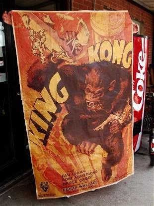 515G: King Kong Poster on Canvas 5 ft Tall