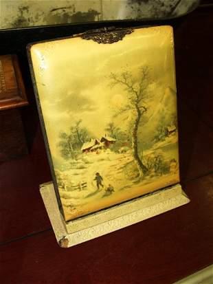 2: Vintage Celluloid Photo Album on Stand