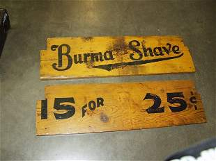 3: 2 Antique Burma Shave Wood Signs