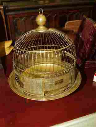 5: Antique Table Top Brass Bird Cage