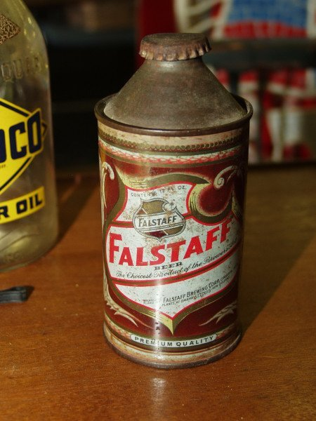 10: Falstaff Cone Top Beer Can