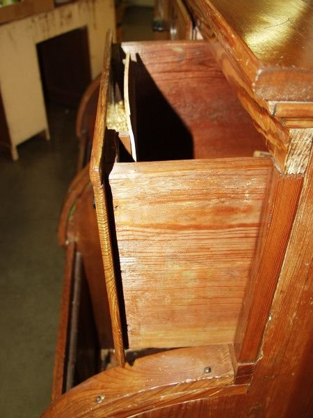 66: Antique Seed Cabinet Roll Top Bin Circa 1890's - 5