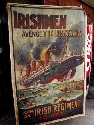 15G: Lusitania Irismen Poster Over 5 Ft Tall on Canvas