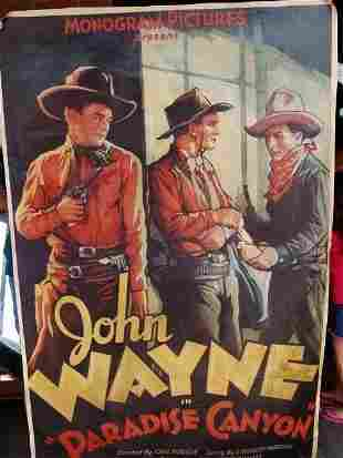 20G: John Wayne Movie Poster on Canvas over 5 foot Tall