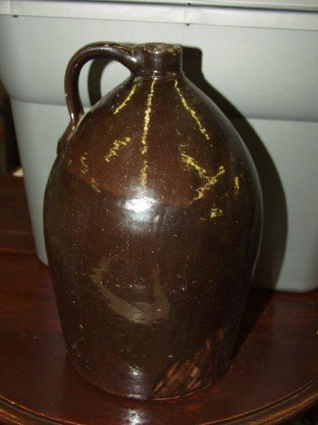 301: Antique Whiskey Crock Jug Circa 1800's