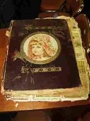 Antique Trade Card Scrap Book