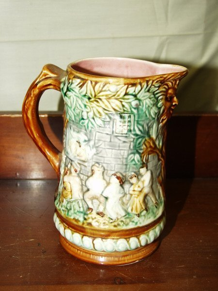 303: French Majolica Pitcher