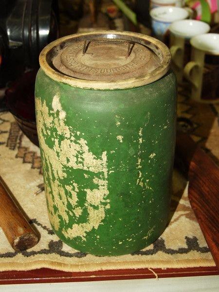 344: Copenhagen Snuff Jar Weyman & Bro Circa 1850's