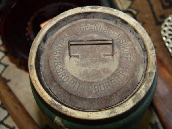 344: Copenhagen Snuff Jar Weyman & Bro Circa 1850's - 2