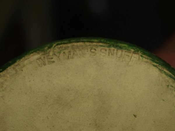 344: Copenhagen Snuff Jar Weyman & Bro Circa 1850's - 3