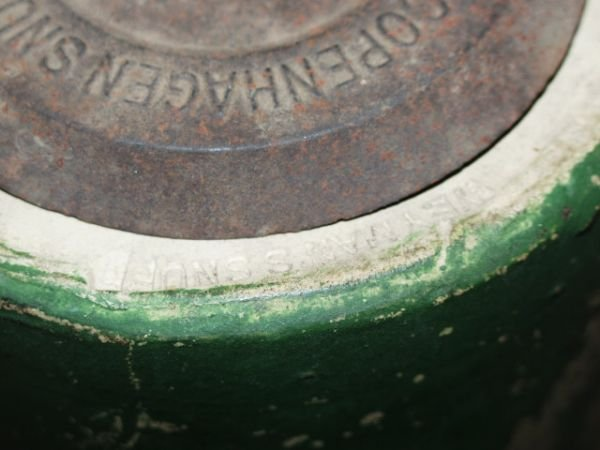 344: Copenhagen Snuff Jar Weyman & Bro Circa 1850's - 4