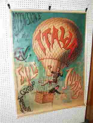 Italian Hot Air Balloon Canvas Poster