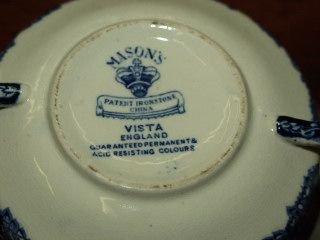 315A: Mason's Blue And White IronStone China
