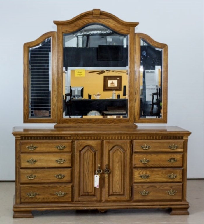 Kincaid Three Way Mirror and Dresser
