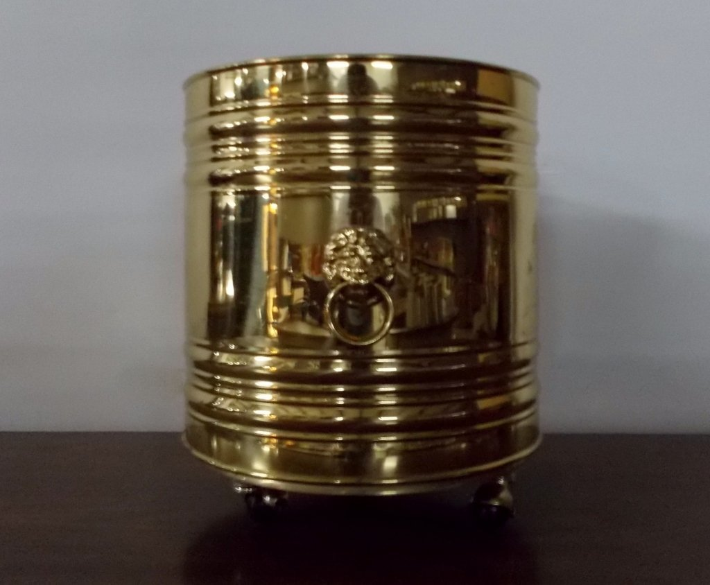 Brass Rolling Bucket